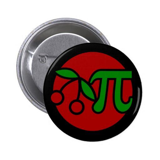 Cherry Pi Day Humor Buttons