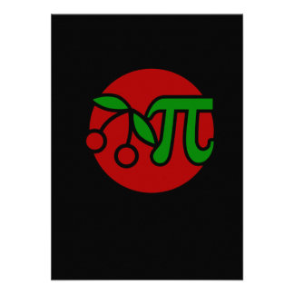 Cherry Pi Day Humor Personalized Announcement