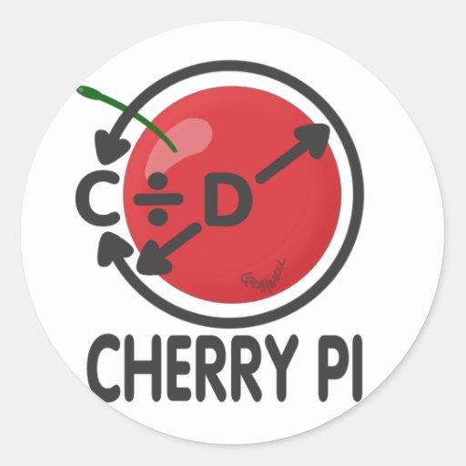 Cherry Pi Round Stickers