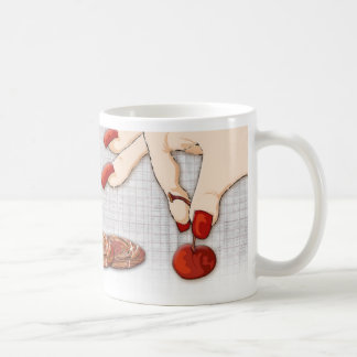 cherry picker basic white mug