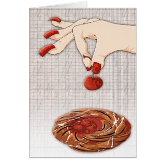 cherry picker greeting card