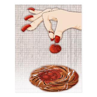 cherry picker postcard