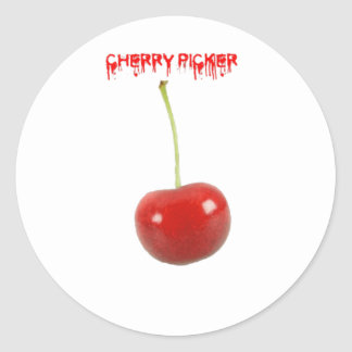 Cherry Picker Round Sticker