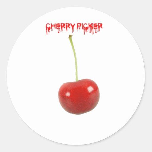 Cherry Picker Round Sticker
