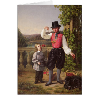 Cherry Pickers Greeting Card