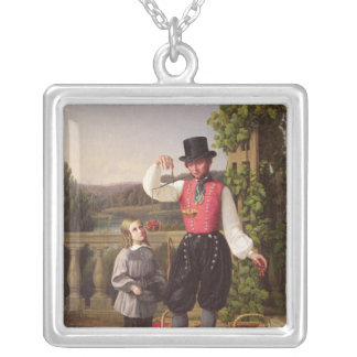 Cherry Pickers Silver Plated Necklace