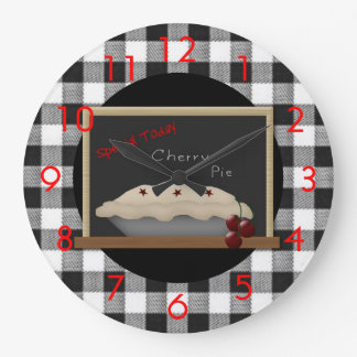 Cherry Pie Diner Wall Clock
