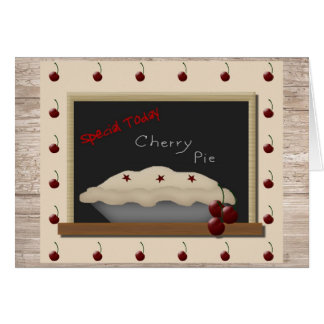 Cherry Pie Note Card