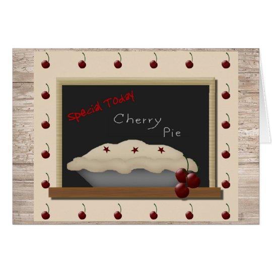Cherry Pie Note Card