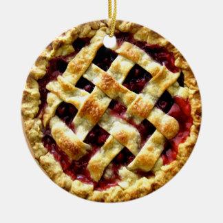 Cherry Pie Round Ceramic Decoration