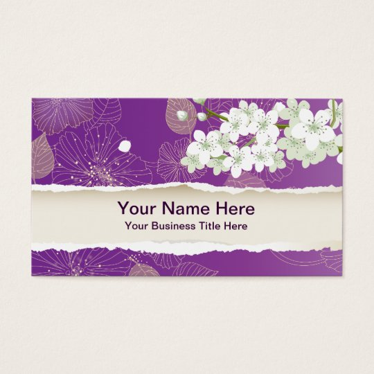 Cherry Pop Blossoms Sakura Business Card