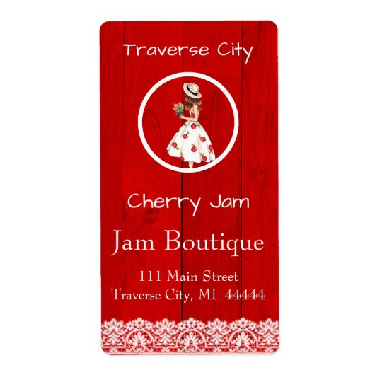 Cherry Preserves Canning Label Shipping Label