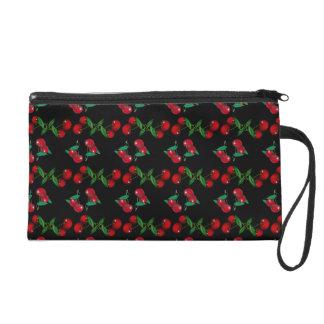 Cherry Print Wristlet Clutches