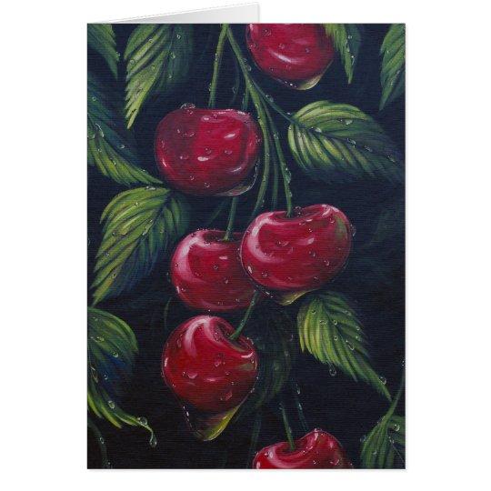 Cherry Rain Greeting Card
