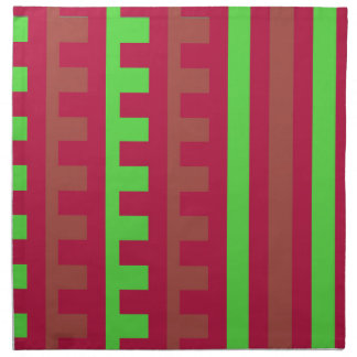 Cherry Red and Green Combs Tooth Napkin