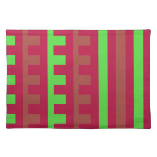 Cherry Red and Green Combs Tooth Placemat