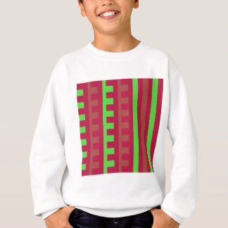Cherry Red and Green Combs Tooth Sweatshirt