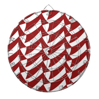 Cherry Red and White Checks Dartboard