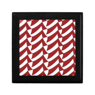 Cherry Red and White Checks Gift Box