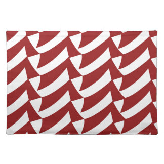 Cherry Red and White Checks Placemat