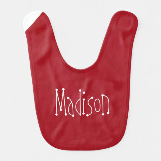 Cherry Red Baby Bib