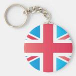 Cherry Red Classic Union Jack British(UK) Flag Keychains