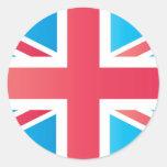 Cherry Red Classic Union Jack British(UK) Flag Round Sticker