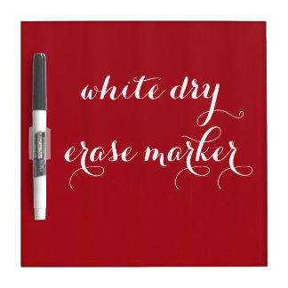 Cherry Red Dry Erase Board