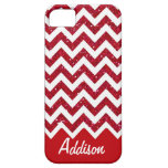 Cherry Red Glitter Chevron Name BLING Case iPhone 5 Cover