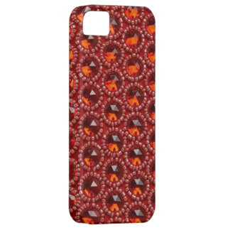 Cherry red jewels & Seed Beads IPhone4 case iPhone 5 Cover
