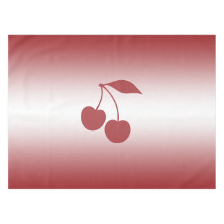 Cherry red to white gradient tablecloth