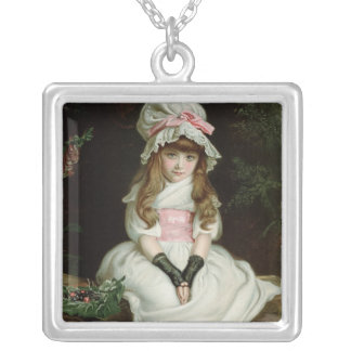 Cherry Ripe, 1879 d Silver Plated Necklace