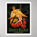 Cherry Rocher Liquor 1922 (Vintage French Ads) Print