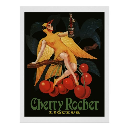 Cherry Rocher Liquor 1922 (Vintage French Ads) Poster