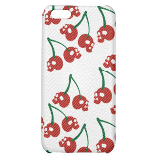 Cherry Skulls Red Cover For iPhone 5C