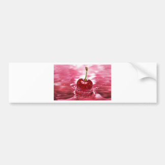 Cherry Splash Bumper Sticker
