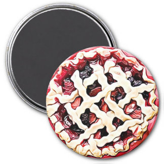 Cherry, Strawberry Rhubarb Pie Magnet
