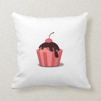 Cherry Sundae Throw Pillow