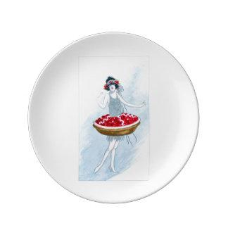 Cherry Tart Plate Porcelain Plate