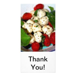 Cherry Tomato and Mozzarella Salad Customised Photo Card