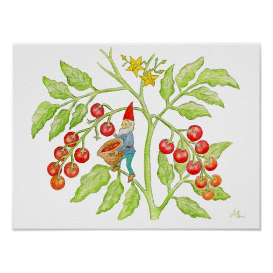 Cherry Tomato Gnome art print