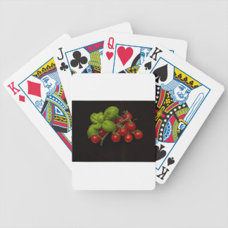 Cherry Tomatoes Basil Bicycle Playing Cards