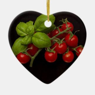 Cherry Tomatoes Basil Christmas Ornament