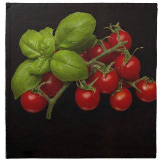 Cherry Tomatoes Basil Napkin