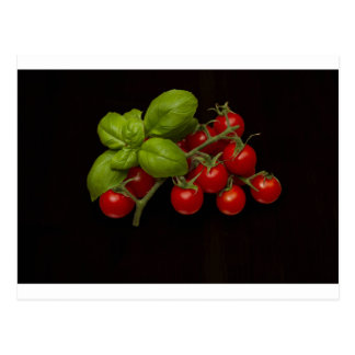 Cherry Tomatoes Basil Postcard
