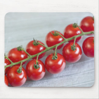 Cherry tomatoes on the vine For use in USA Mouse Mat