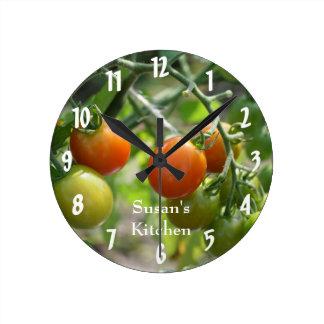Cherry Tomatoes On The Vine Kitchen Wall Clocks