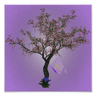 Cherry Tree Art Poster