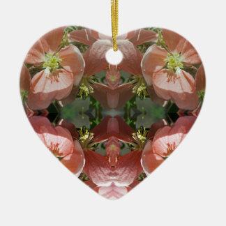 Cherry tree blossom pattern christmas ornament