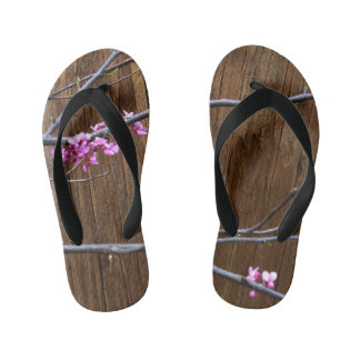 Cherry Tree Blossoms and Wood Pole Flip Flops 1/2